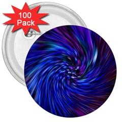 Stylish Twirl 3  Buttons (100 Pack)