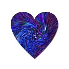 Stylish Twirl Heart Magnet