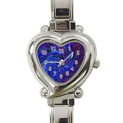 Stylish Twirl Heart Italian Charm Watch