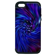 Stylish Twirl Apple iPhone 5 Hardshell Case (PC+Silicone)