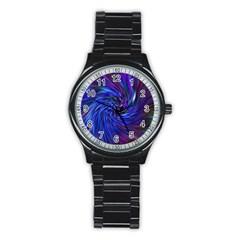 Stylish Twirl Stainless Steel Round Watch