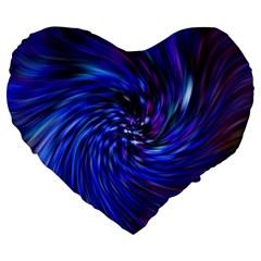 Stylish Twirl Large 19  Premium Flano Heart Shape Cushions
