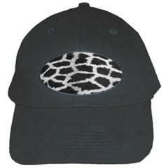 Black And White Giraffe Skin Pattern Black Cap