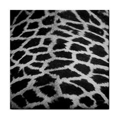 Black And White Giraffe Skin Pattern Tile Coasters