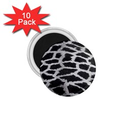 Black And White Giraffe Skin Pattern 1.75  Magnets (10 pack)
