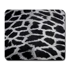 Black And White Giraffe Skin Pattern Large Mousepads