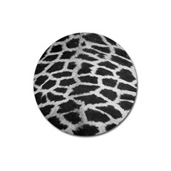 Black And White Giraffe Skin Pattern Magnet 3  (Round)