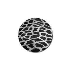Black And White Giraffe Skin Pattern Golf Ball Marker (4 Pack)