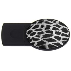 Black And White Giraffe Skin Pattern USB Flash Drive Oval (2 GB)