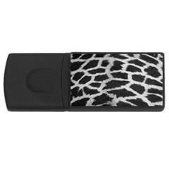 Black And White Giraffe Skin Pattern USB Flash Drive Rectangular (2 GB)