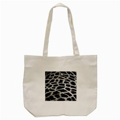 Black And White Giraffe Skin Pattern Tote Bag (Cream)