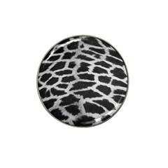 Black And White Giraffe Skin Pattern Hat Clip Ball Marker (4 pack)