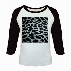 Black And White Giraffe Skin Pattern Kids Baseball Jerseys