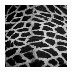 Black And White Giraffe Skin Pattern Medium Glasses Cloth (2-Side)
