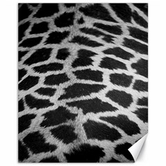 Black And White Giraffe Skin Pattern Canvas 11  x 14