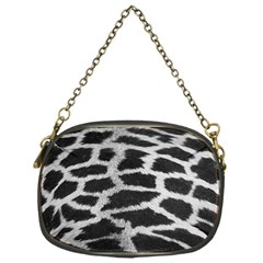 Black And White Giraffe Skin Pattern Chain Purses (one Side)