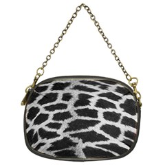 Black And White Giraffe Skin Pattern Chain Purses (Two Sides)