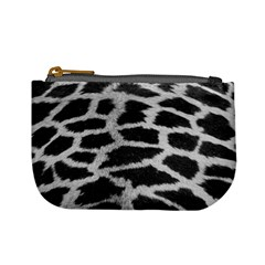 Black And White Giraffe Skin Pattern Mini Coin Purses