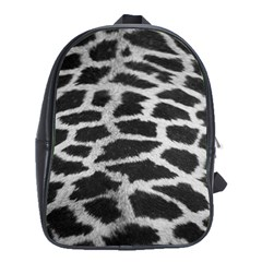 Black And White Giraffe Skin Pattern School Bags(large)