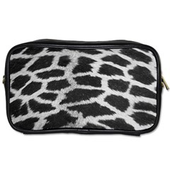 Black And White Giraffe Skin Pattern Toiletries Bags