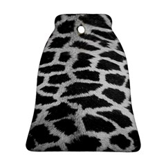 Black And White Giraffe Skin Pattern Bell Ornament (Two Sides)