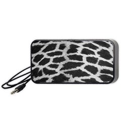 Black And White Giraffe Skin Pattern Portable Speaker (black)