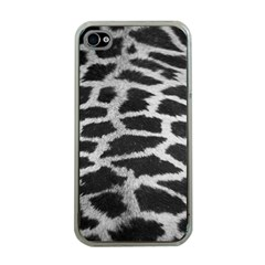 Black And White Giraffe Skin Pattern Apple iPhone 4 Case (Clear)