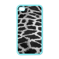 Black And White Giraffe Skin Pattern Apple iPhone 4 Case (Color)