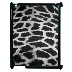 Black And White Giraffe Skin Pattern Apple iPad 2 Case (Black)