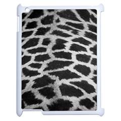 Black And White Giraffe Skin Pattern Apple iPad 2 Case (White)