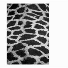Black And White Giraffe Skin Pattern Small Garden Flag (two Sides)