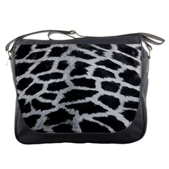 Black And White Giraffe Skin Pattern Messenger Bags