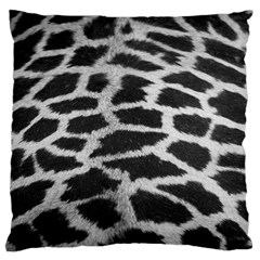 Black And White Giraffe Skin Pattern Large Cushion Case (One Side)