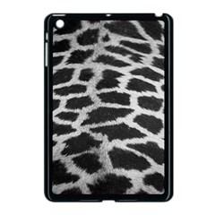 Black And White Giraffe Skin Pattern Apple iPad Mini Case (Black)