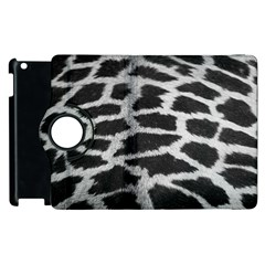Black And White Giraffe Skin Pattern Apple iPad 3/4 Flip 360 Case