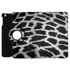 Black And White Giraffe Skin Pattern Apple iPad Mini Flip 360 Case
