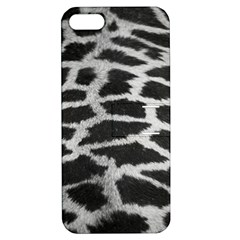 Black And White Giraffe Skin Pattern Apple iPhone 5 Hardshell Case with Stand