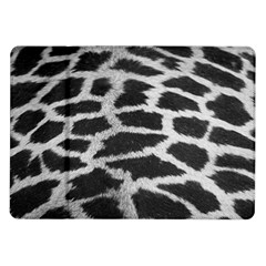 Black And White Giraffe Skin Pattern Samsung Galaxy Tab 10.1  P7500 Flip Case