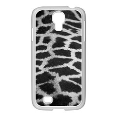 Black And White Giraffe Skin Pattern Samsung GALAXY S4 I9500/ I9505 Case (White)