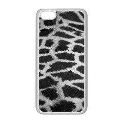 Black And White Giraffe Skin Pattern Apple iPhone 5C Seamless Case (White)