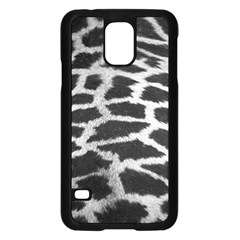 Black And White Giraffe Skin Pattern Samsung Galaxy S5 Case (black)