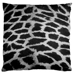 Black And White Giraffe Skin Pattern Standard Flano Cushion Case (Two Sides)