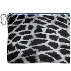 Black And White Giraffe Skin Pattern Canvas Cosmetic Bag (XXXL)