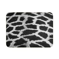 Black And White Giraffe Skin Pattern Double Sided Flano Blanket (mini)