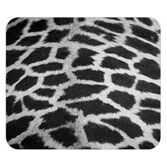 Black And White Giraffe Skin Pattern Double Sided Flano Blanket (Small)