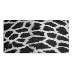 Black And White Giraffe Skin Pattern Satin Shawl