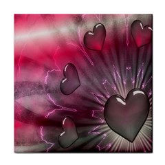 Love Hearth Background Wallpaper Tile Coasters