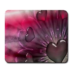 Love Hearth Background Wallpaper Large Mousepads