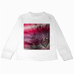 Love Hearth Background Wallpaper Kids Long Sleeve T-Shirts
