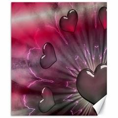 Love Hearth Background Wallpaper Canvas 8  x 10